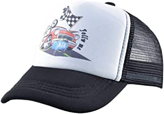 Baseball Cap Children's Racing Baseball Hat Spring Baby Hip Hop Baseball Cap Boys and Girls Sunscreen Net Cap