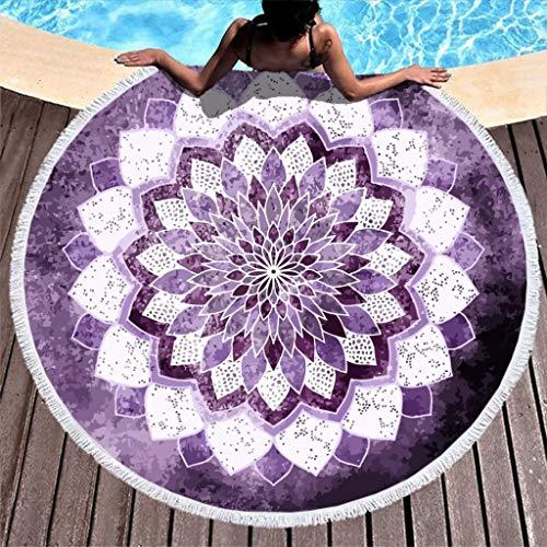 O2ECH-8 Mandala IN Purple microvezel lichte badhanddoek mat - European Sand Frei strandhanddoeken 59