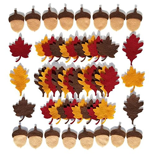 Felt Autumn Leaves and Acorns by Wildflower Toys TM