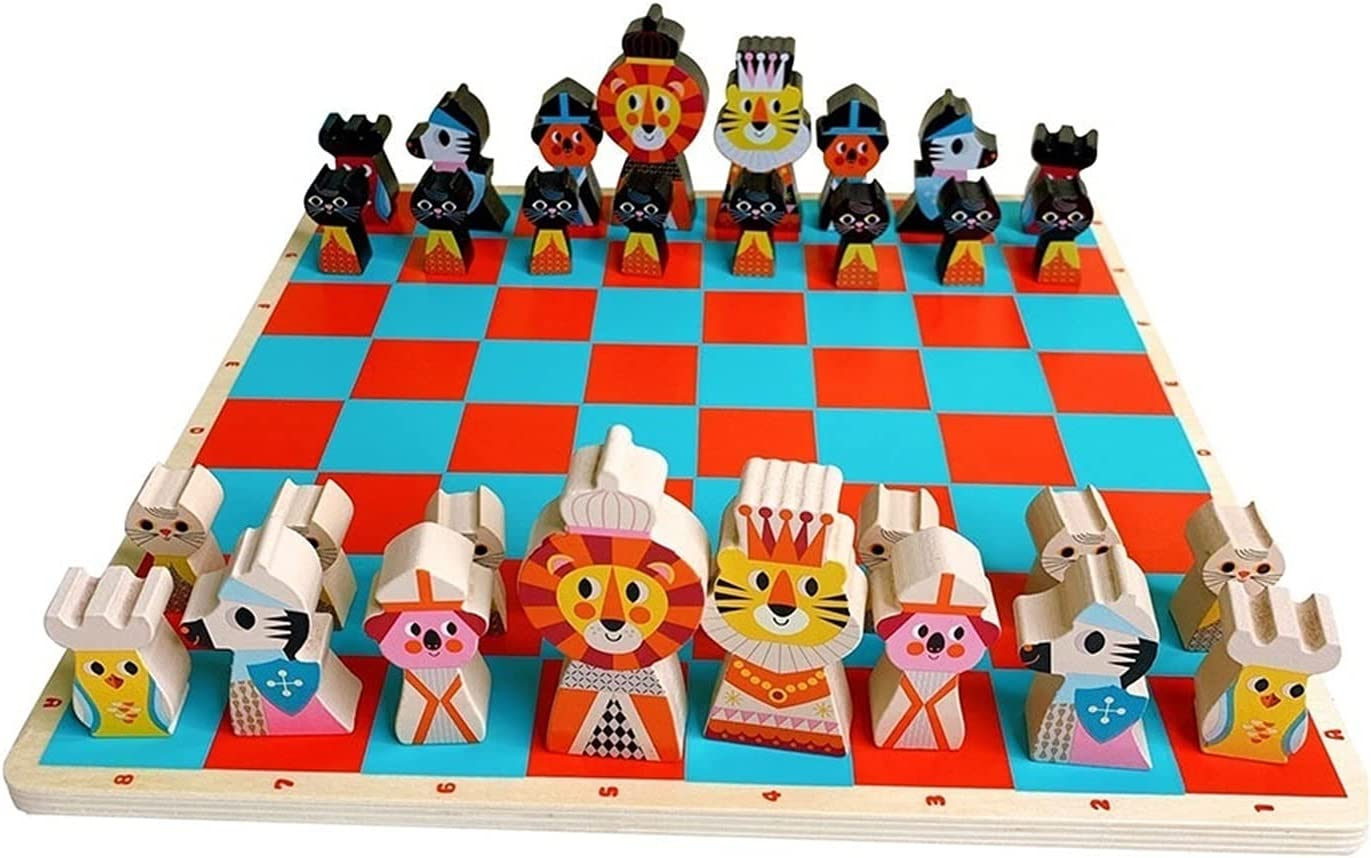 XIAOQIU Super beauty product restock Outlet sale feature quality top Chess Set Cute Animal for Eco-Fri Wooden Kids