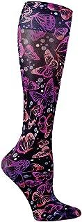 Footwear By Cherokee Women's Fashion 8-15 Mmhg Compression Sock Wing Awakening