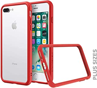 RhinoShield Bumper for iPhone 8 Plus / 7 Plus [CrashGuard NX] | Shock Absorbent Slim Design Protective Cover [3.5M / 11ft Drop Protection] - Red