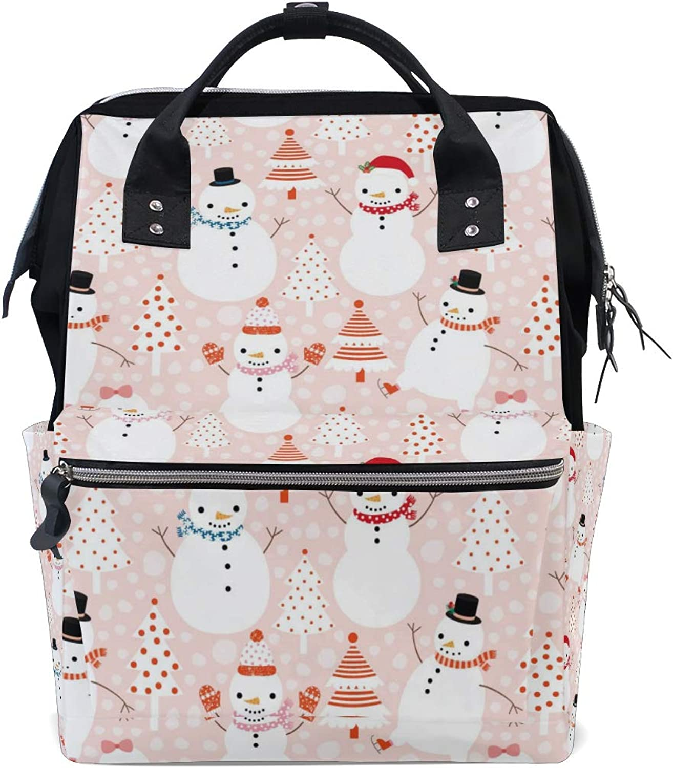 282df9ef91 ColourLife Diaper bag Backpack Cartoon Snowmen Tote Casual Daypack  Multifunctional Nappy Bags Bag nwqltk4340-Sporting goods