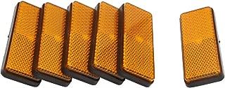 sourcing map 8Pcs 6mm Rosca Macho Pl/ástico Naranja Placa Reflectante Reflector de Advertencia Moto