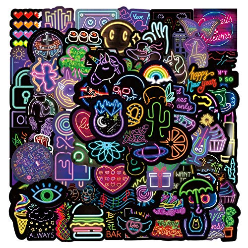 LZWNB wind neon stickers Harajuku creative wall luggage phone waterproof paste 100