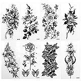 DONQL 8 Blätter Tattoo Tompräre Blumen Tattoo...