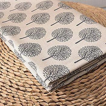 ONECHANCE Tela de algodón mezcla de lino por The Meter DIY Material patrón floral 100x150cm Color Árbol de la vida Tamaño 2 metros: Amazon.es: Hogar