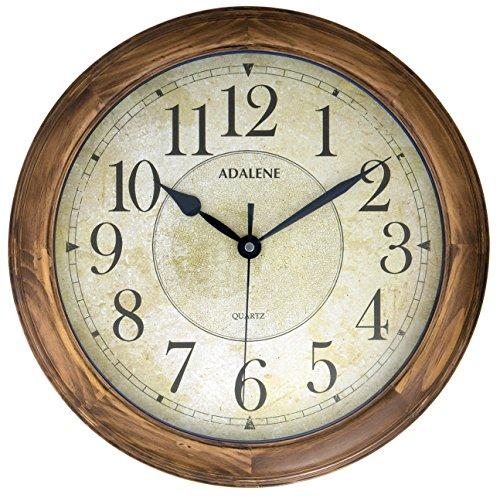 Adalene Wall Clocks Large Decorative for Living Room - 14 Inch Analog...