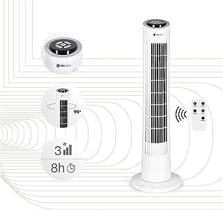 Tecvance Version 2021- Ventilateur Colonne silencieux avec Télécommande et Minuterie - 3 Vitesses - Oscillation - Hauteur ...