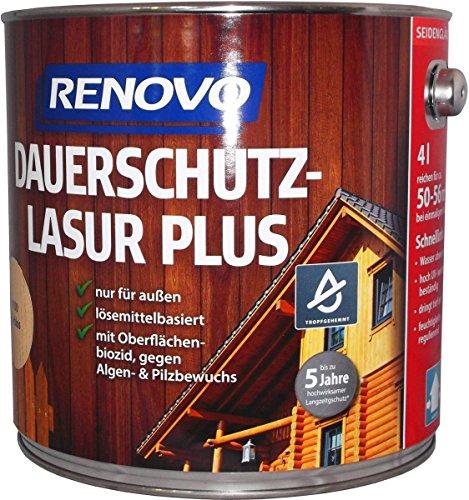 Renovo 4 Liter Dauerschutzlasur PLUS Nr.8410 nussbaum