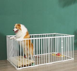 YXZPQ サークルケージ 犬 小型 ペットサークル 犬用 折りたたみ 屋外 ペット柵 12面 室内 ペットフェンス ドッグサークル室内用 柵 簡単組み立て 工具不要 アウトドア 留守番 取り付け簡単173*89*50