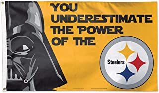 You Underestimate the Power of the STEELERS Darth Vader Logo Flag 3x5- With Grommets