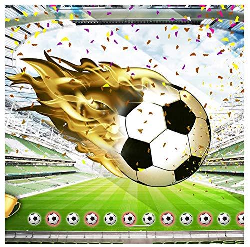 Papel tapiz mural personalizado 3D no tejido HD abstracto estadio de fútbol trofeo cinta dormitorio restaurante niño habitación fondo decoración de la pared