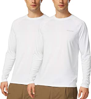 Baleaf Men's UPF 50+ Sun Protection Long Sleeve Performance Outdoor Running T-Shirt