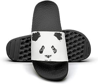 Panda Logo Men's Shower Athletic Slides Sandal Slippers Flip Flops
