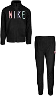 Nike Kids Baby Girl's Velour Zip Jacket/Pants Track Set (Toddler)