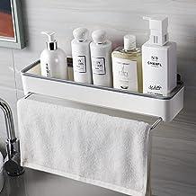 LOPIXUO Badkamer plank Badkamer Plank Handdoek Houder Uitschuifbare Hanger Douche Shampoo Rack Bad Organizer Keuken Opberg...
