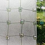 LMKJ Película de Vidrio de Diamante 3D decoración de adhesión estática privacidad Piedra Preciosa película de Ventana autoadhesiva Anti-Ultravioleta A08 30x200cm