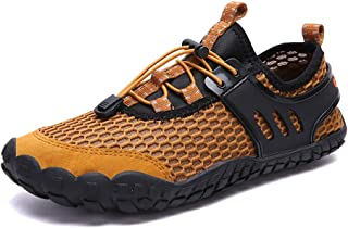 Leorealko Men Water Shoes Sports Aqua Barefoot Quick Dry Breathable Non-Slip for Mountaineering Outdoor