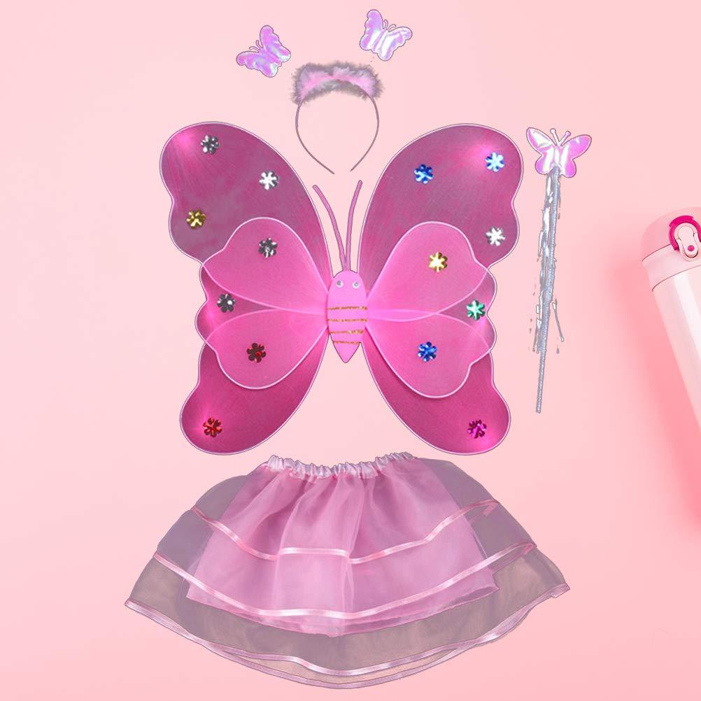 Amosfun 4pcs Falda de Mariposa para niños, Conjunto de Traje de ...