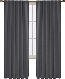 Deconovo Room Darkening Rod Pocket and Back Tab Curtains Thermal Insulated Blackout..