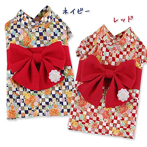 犬 服 衣装 ドッグ 日本 浴衣 和風 お洒落 小型犬 ドッグウェア ネイビー,MD-M