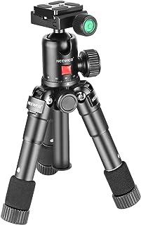 Neewer 20インチ/50センチ ポータブルコンパクトデスクトップマクロミニ三脚 (黒)