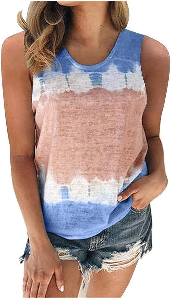 naioewe Women Short Sleeve Tops, Womens Casual Summer O-Neck T-Shirt Gradient Printed Blouse Shirts Tunic Top Tee Shirt