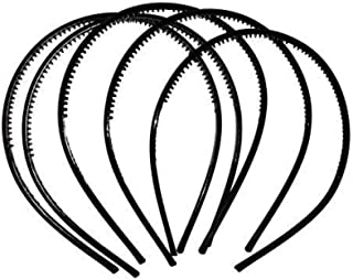 I Jewels Pack of 5 Black Hairbands with Comb for Women/Men/Girls (A99HB11)