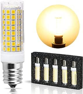 Ceramic E17 LED Bulb for Microwave Oven Appliance, 80W Halogen Bulb Equivalent, Warm White 3000K, Pack of 5