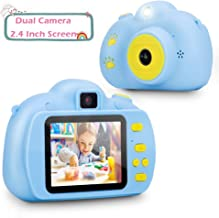 Verkstar Kids Camera Mini Toys Camera 2.4 Inches Screen HD 1080P Rechargeable Video Digital Children Camera for 3-12 Years Old Boys Girls Christmas Birthday Party Gift