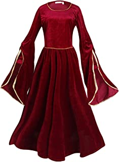 Womens Deluxe Medieval Costume Renaissance Lady Costume for Halloween Carnival