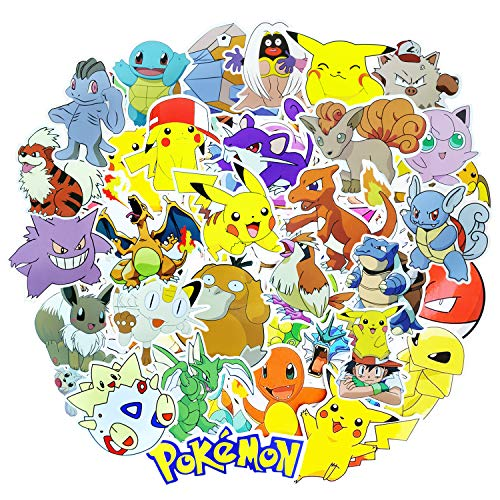 ROZO Pegatinas, 80PCS Paquete de Pokemon Pegatinas, Calcomanías Impermeable Tumblr VSCO Sticker...