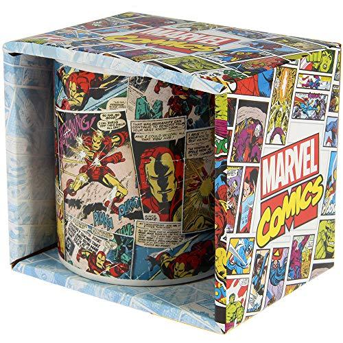 HKMVSWOD Taza de cerámica con diseño de personajes de Marvel Comic Mania Iron Man