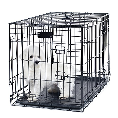PETMAKER Small 2 Door Foldable Dog Crate Cage, 24 x 19 AmazonPets Basic Crates Dog from Selection Supplies Top