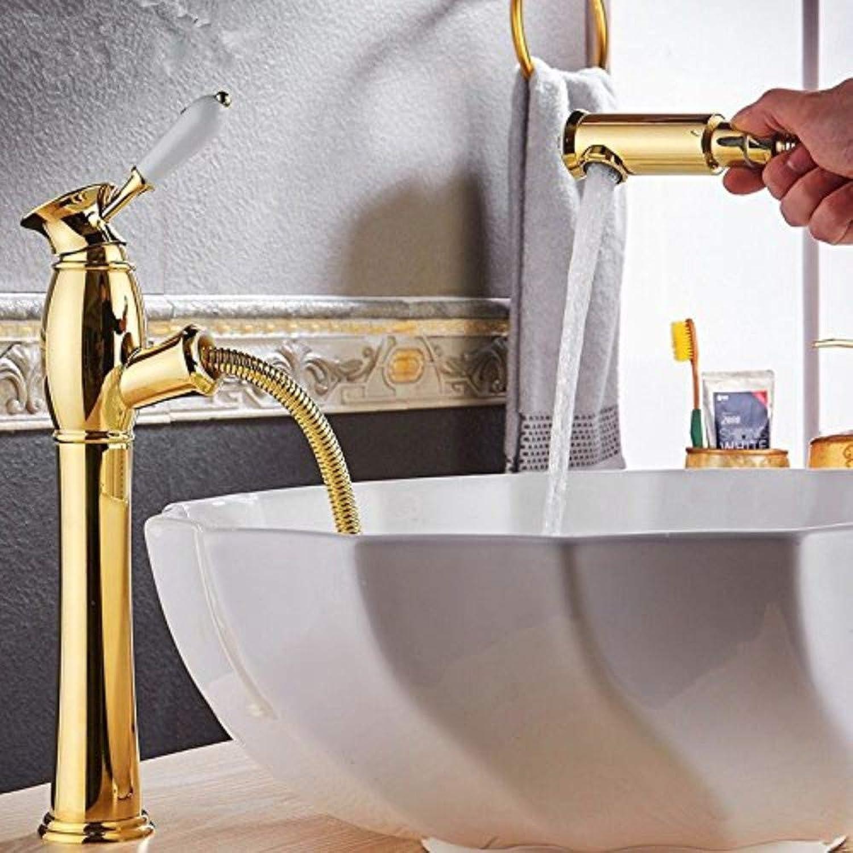 Waschtischarmaturen Stil Vollkupfer Hauptzugtyp Kalt Heies Waschbecken Wasserhahn Antikes Waschbecken Handwaschbecken Teleskoparmatur