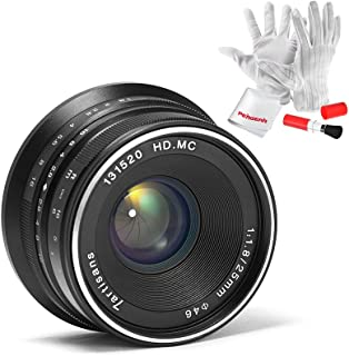 7artisans 25mm F1.8 APS-C Manual Focus Fixed Lens Compatible with Fujifilm Fuji Cameras X-A1 X-A10 X-A2 X-A3 X-at X-M1 XM2...