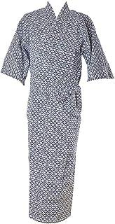 寝間着 浴衣 日本製 [なごみや] 福袋 寝巻き浴衣 花蕾ガーゼ 二重袷大 身巾ゆったり 紺 温泉旅館 ゆかた メンズ