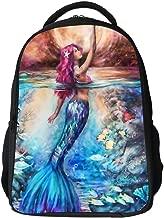 SARA NELL Beauty Mermaid Touch Moon Kids School Backpack for Children Elementary Mermaid School Bags Girls Boys Bookbags