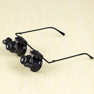 YASE-king LED Light Watch Repair Magnifier Four Set Lens 10x 15x 20x 25x Eyewear Magnifier Watch (Color : Black)