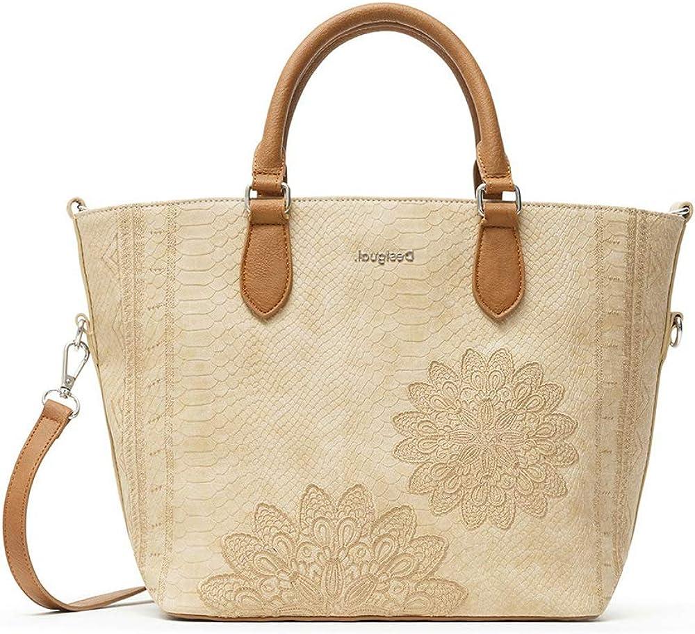 Desigual pu hand bag, borsa a mano da donna, in pelle sintetica 21SAXP19