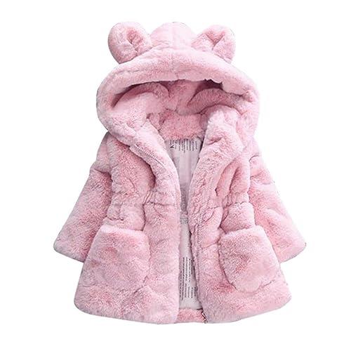 ffd0107451e Longra Manteau à Capuche Bébé Fille Hiver Chaud Fourure Ultra Épais  Oreilles de Lapin Forme Vêtements