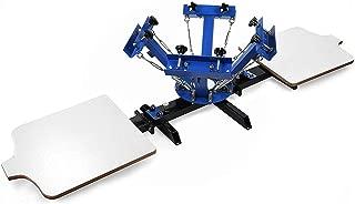 SHZOND Screen Printing Press 4 Color 2 Station Silk Screen Machine 21.7