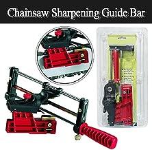 Bar-Mount Chain Saw Sharpener - Manual Chainsaw Sharpening Filing Guide Bar, Chain Filing Guide Tool Super Rapid Chainsaw Sharpening Bar Mount USA Stock