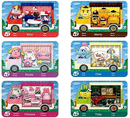 6PCS Sanrio Animal Crossing Amiibo Card with Switch for New Horizons,Regular Size.