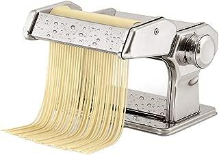 DEWEL 水洗える製麺機 パスタマシン そば打ち機 うどん 餃子など 分離式 厚さ幅調節可能 2種類カッター