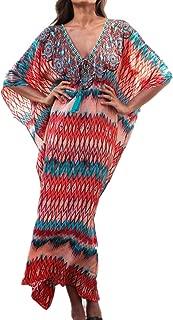 weant Kimono da Donna in Chiffon con Stampa Floreale,Chiffon Capo da Spiaggia Floreale Bohemia Cardigan Coprente Trasparente Allentato in Chiffon con Nodo sul Davanti Stampato