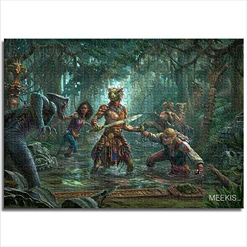 Zeo Qi Lin Zou Children's adult puzzle The Elder Scrolls Online Murkmire 38x26cm paper mini1000 piece parent-child game to enhance thinking and logic, the best toy