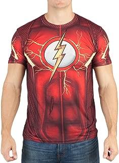 DC Comics Mens Flash Suit Up Sublimated Costume T-shirt