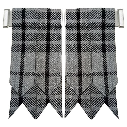 Scottish Kilt Hose Socke blinkt graue Uhr wies Strumpfband Highland Wear
